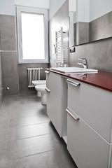 Red bathroom vertical