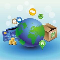 Vector internet shopping concept