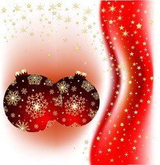 Red Christmas spheres
