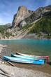 Kanus auf dem Moraine Lake