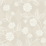 Seamless pattern with white asters