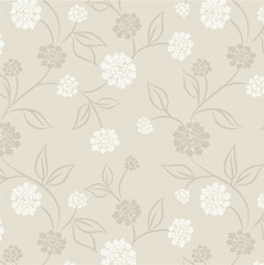 Seamless wallpaper with asters