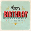 Birthday Card - Vector EPS10 - Grunge effects can be removed