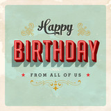 Fototapety Birthday Card - Vector EPS10 - Grunge effects can be removed