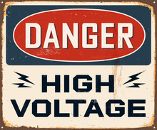 Vintage métal Sign - Vector - effets grunge peut être retiré