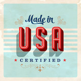 Made in USA label - Vector EPS10. Grunge effects can be removed