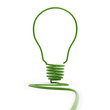 3d green  bulb silhouette isolated