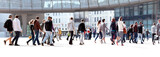 A group of young people. Panorama. - Fine Art prints
