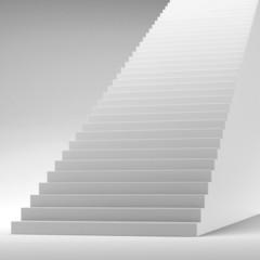 White stairway isolated on white