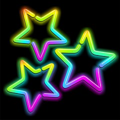 Christmas Stars Psychedelic Neon Light-Stelle Psichedeliche