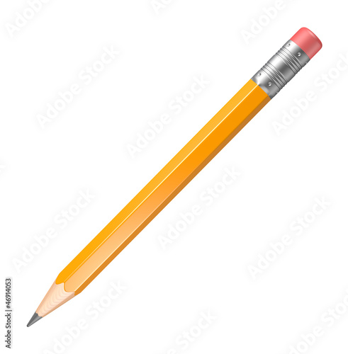 Lead pencil on a white background