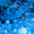 Christmas decoration blue balls