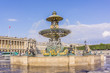 Famous fountain on Place de la Concorde in Paris, France - 46914880