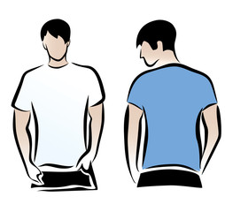 men's t-shirts template