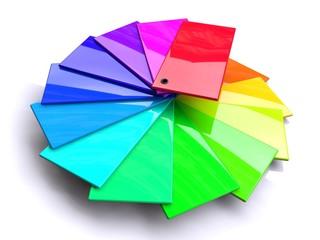 Fächer mit Farbtafeln