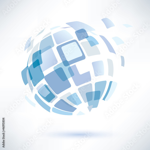 abstract globe symbol, business concept