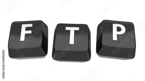 FTP written in white on black computer keys