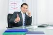 erfolgreicher manager am telefon