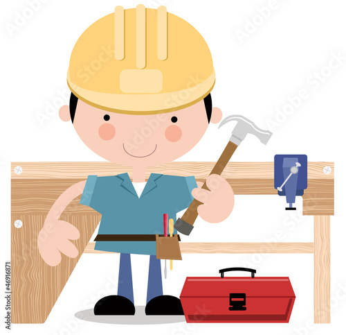 Carpenter, or Workman with tools