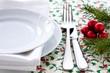 Teller, Gabel und Messer