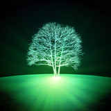 Abstract glowing tree
