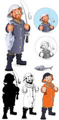 Fisherman Vector Illustration
