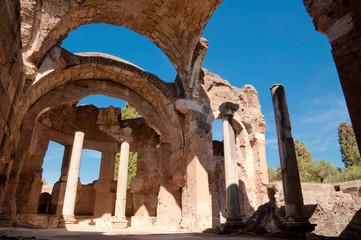 Grandi terme ruins at Villa Adriana at Roma - Italy