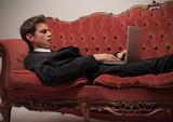 Businessman on the Sofa