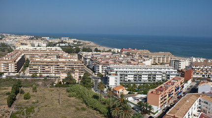 Aerial view of Denia