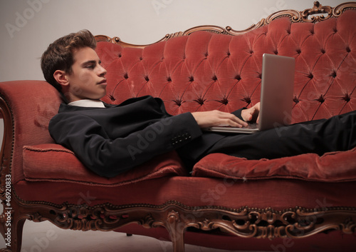 Businessman on the Sofa