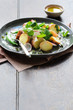Summer potato salad with greens