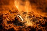 Closeup one burned coffee beans - 46921451