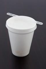 tazza di caffè in polistirene