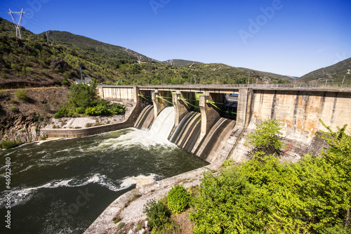 Dam in Puente Domingo Florez, Leon, Spain