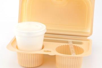 bicchiere in polistirene da cappuccino o caffè