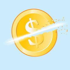 Slashed Dollar Coin