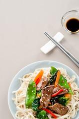 Stir-fried beef noodles