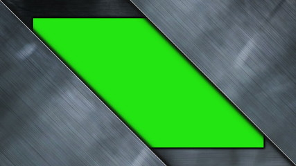 Metal Door Diagonal, with Green Screen - HD1080