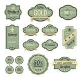 Vintage Labels set. Badge icons. Retro logo template.