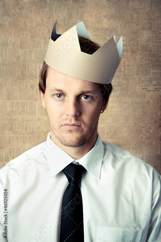 Crown man portrait