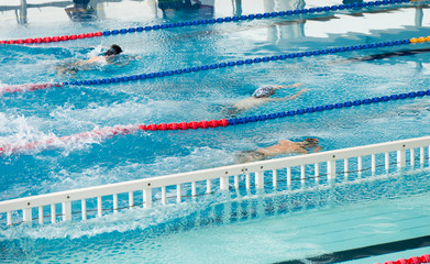 swimming during a competition