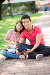 Campus couple