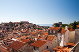 Elevated view of the town from the city walls, Dubrovnik