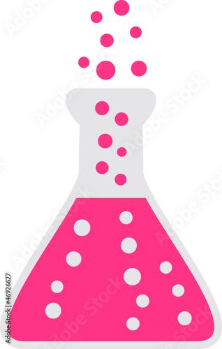 Leinwandbild Motiv laborflasche