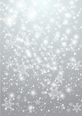 Shiny background with snowflakes