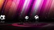 Football Balls and News Text - HD1080
