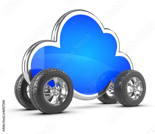 Cloud computing with wheels