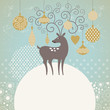 Greeting card, Christmas deer