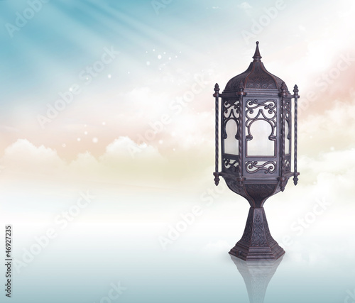 Ramadan Lamp greeting concept clipping path included