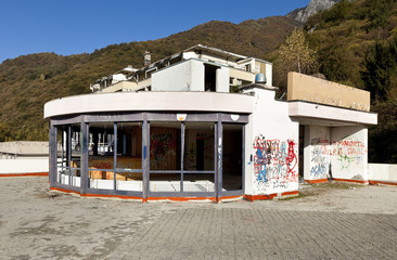 old building damaged by vandals